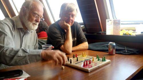 10) Playing Ludo on the ferry home
