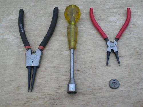19) An array of tools for fitting spring cups