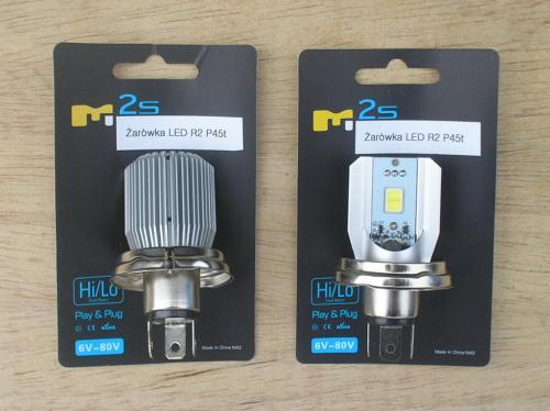 2) LED Headlight bulbs