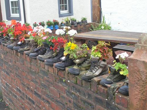 5) Then leave your boots behind