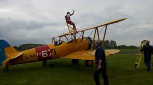 5) Wing walking at Breighton Aerodrome