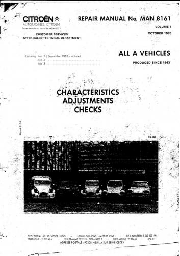 7) Front page of Citroen Repair Manual