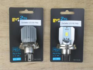 7) Two LED head-light bulbs