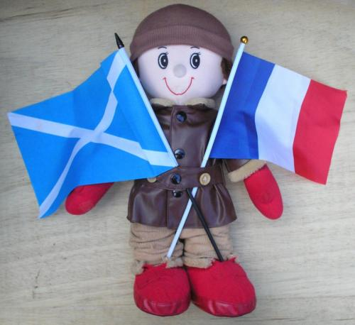 1) Taffy celebrating the Scotland France Alliance