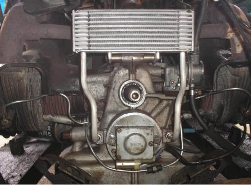 13) New Oil Cooler and Cylinder Head oil feed pipe
