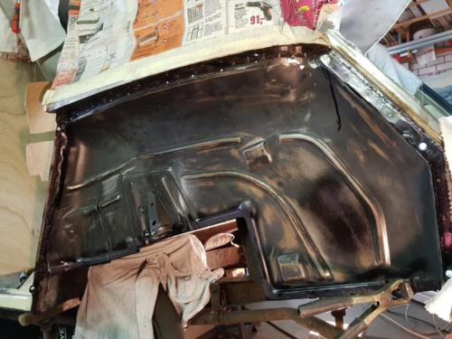 15) SPOG rear inner wing panel being fitted