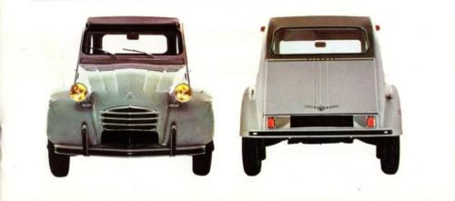6) 1969 2cv with bumper plastic insert strips
